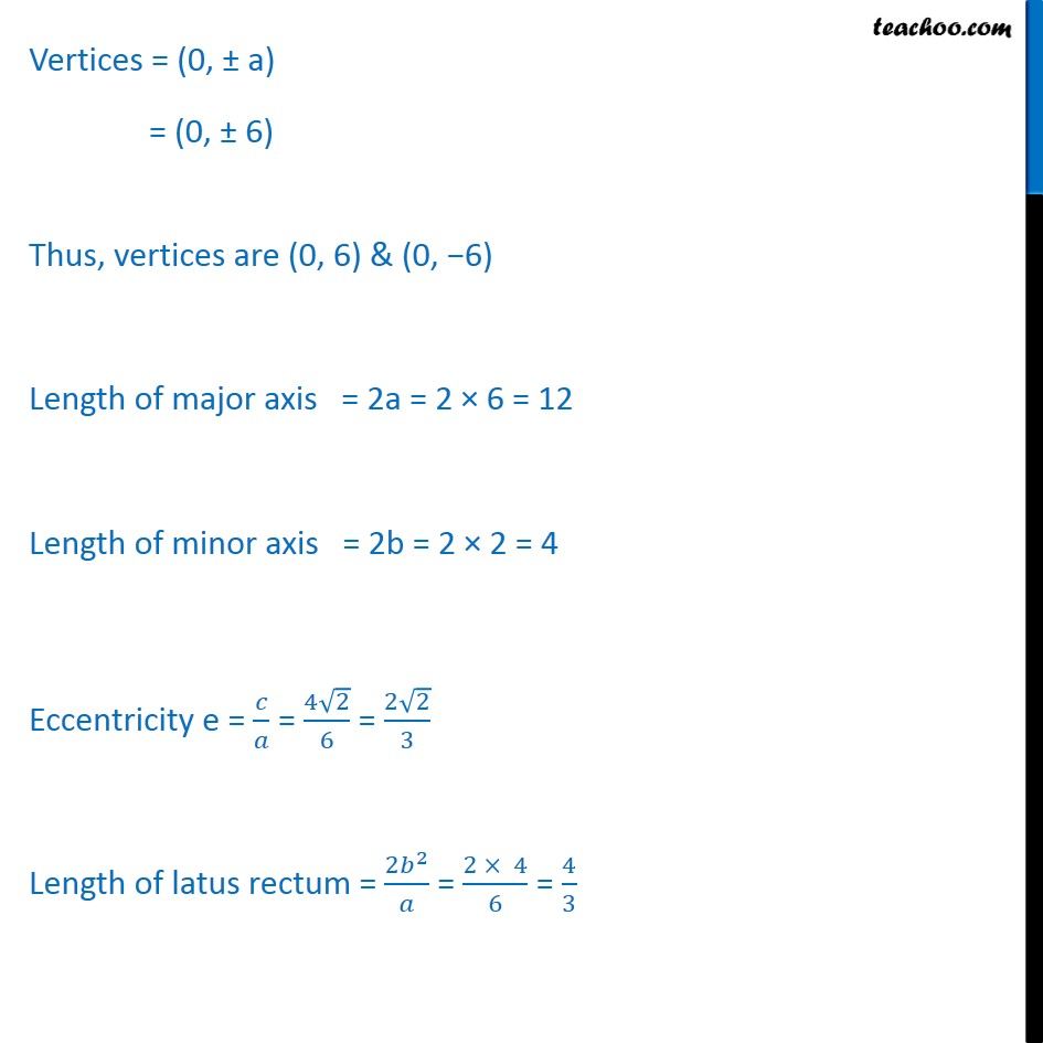 Ex 11.3,  7 - Chapter 11 Class 11 Conic Sections - Part 3