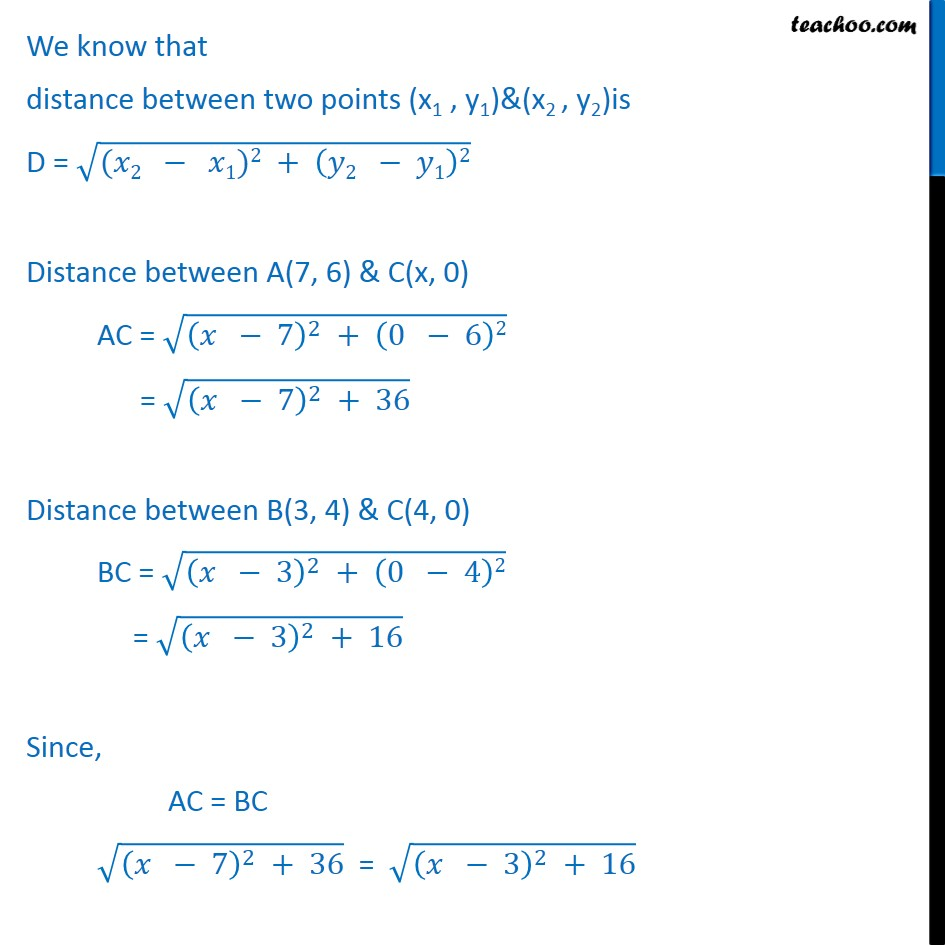 Ex 10.1, 4 - Find a point on x-axis, which is equidistant