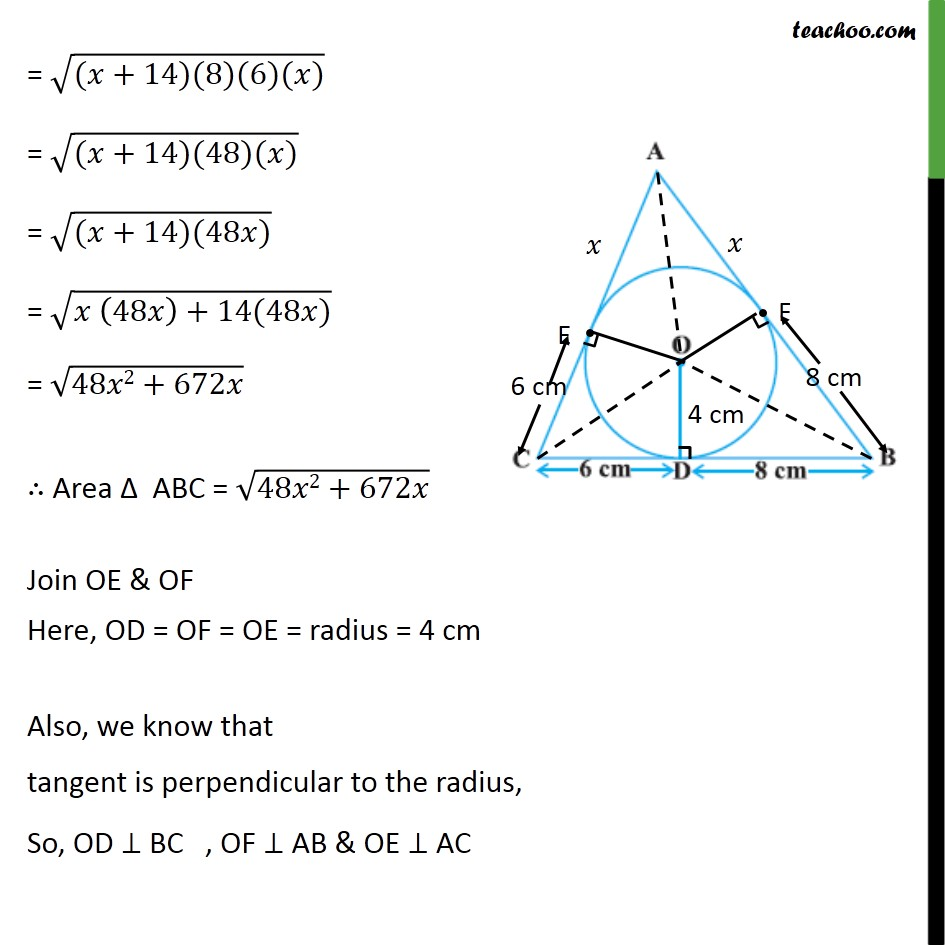 Ex 102 12 A Triangle Abc Is Drawn To Circumscribe Circle B C Circuit Diagram Last Updated At Oct 16 2018 By Teachoo
