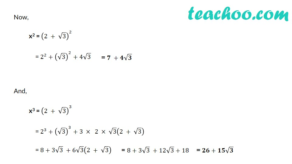 If x = 1/(2 − √3), find the value of x^3 − 2x^2 − 7x + 5 - Part 2