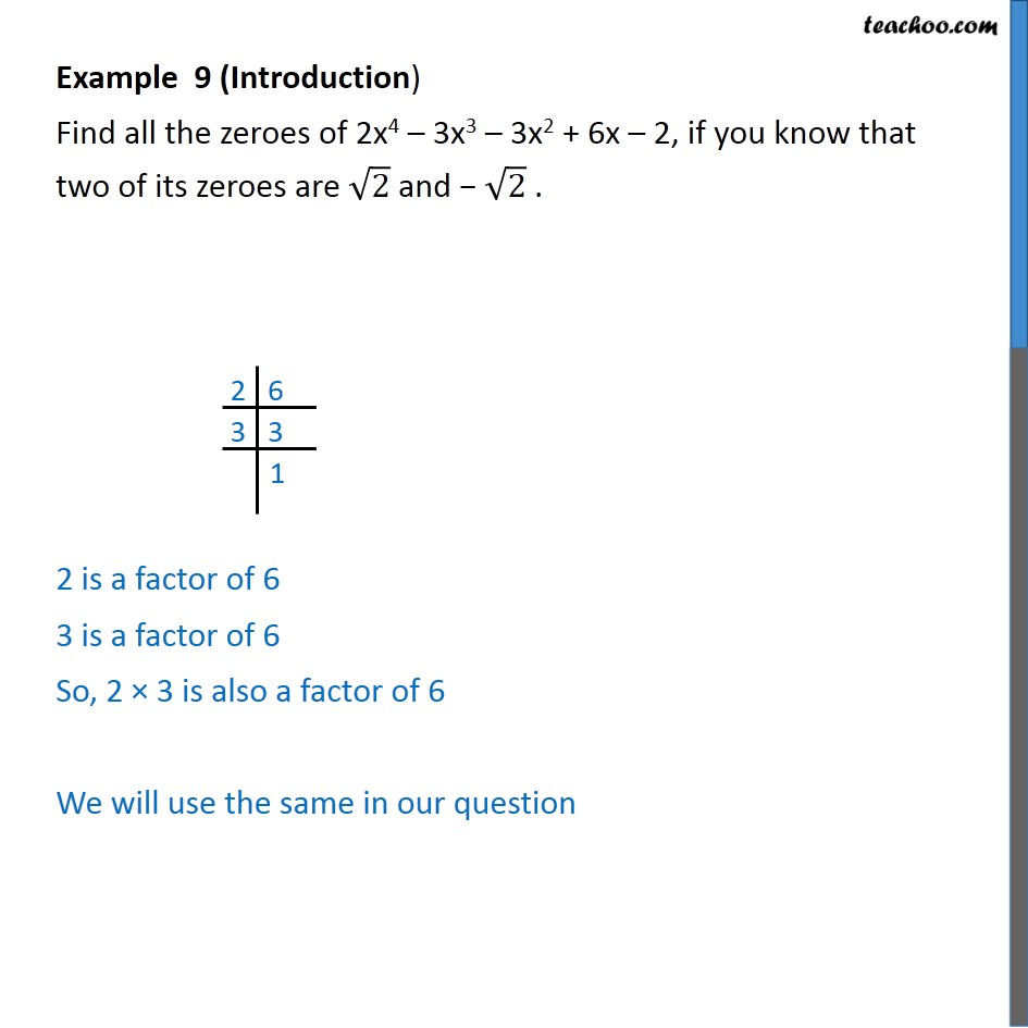 Example 9 - Find all zeroes of 2x4 - 3x3 - 3x2 + 6x - 2 - Examples