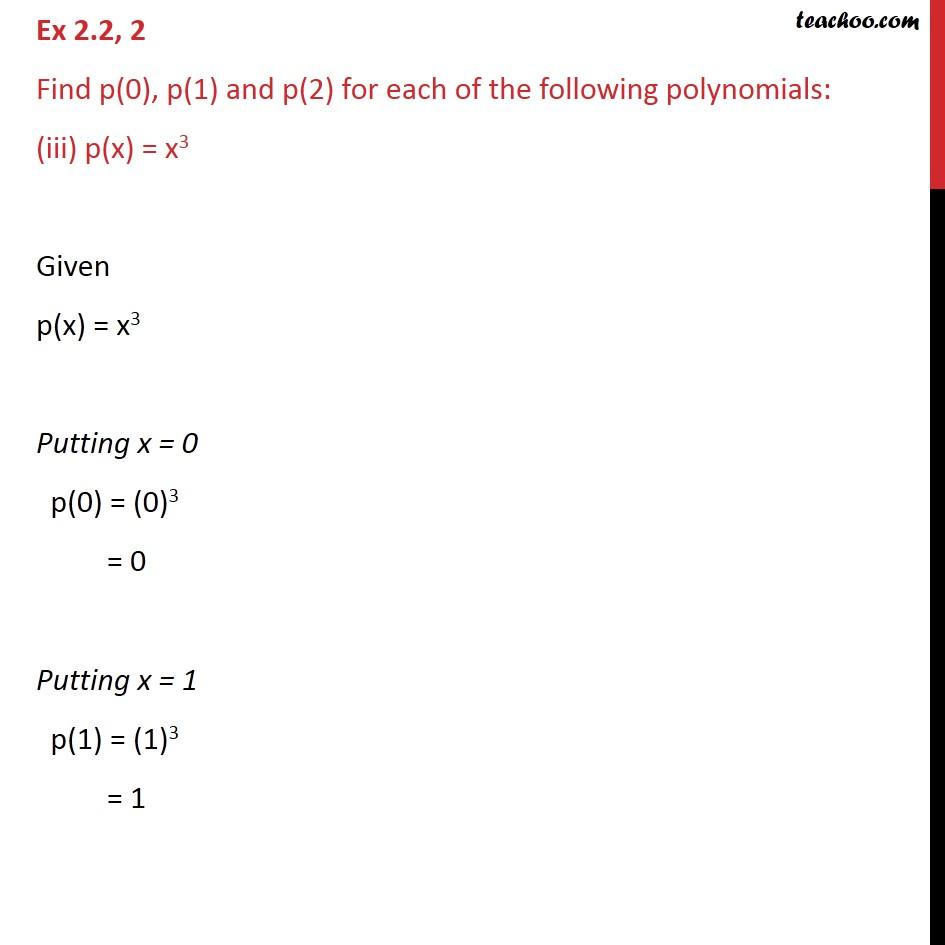 Ex 2.2, 2 - Chapter 2 Class 9 Polynomials - Part 5
