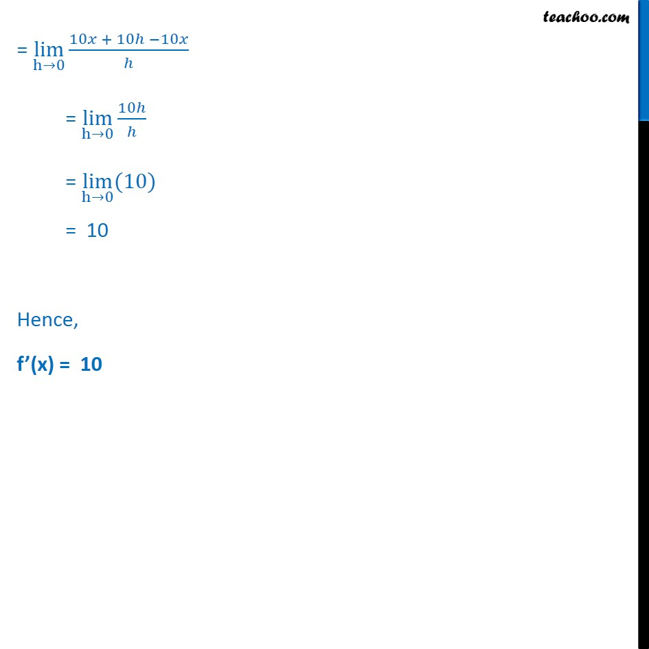 Example 9 - Chapter 13 Class 11 Limits and Derivatives - Part 2