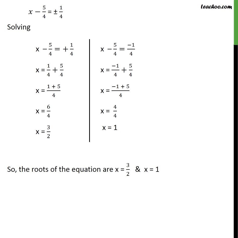 Example 7 - Chapter 4 Class 10 Quadratic Equations - Part 4