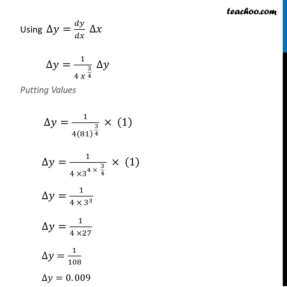 Ex 6.4, 1 (ix) - Chapter 6 Class 12 Application of Derivatives - Part 2