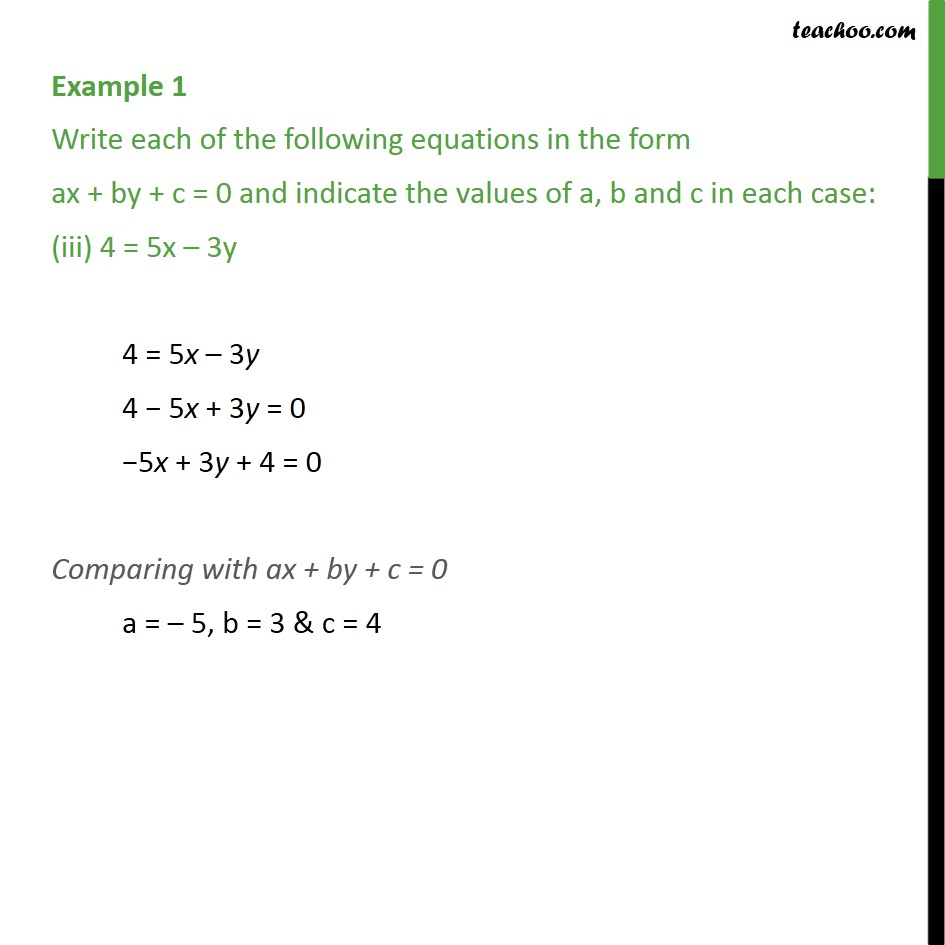 Example 1 - Chapter 4 Class 9 Linear Equations in Two Variables - Part 3
