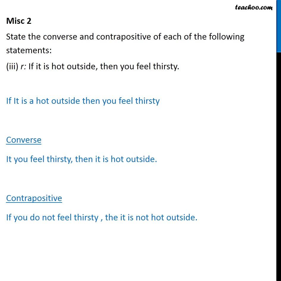 Misc 2 - Chapter 14 Class 11 Mathematical Reasoning - Part 4