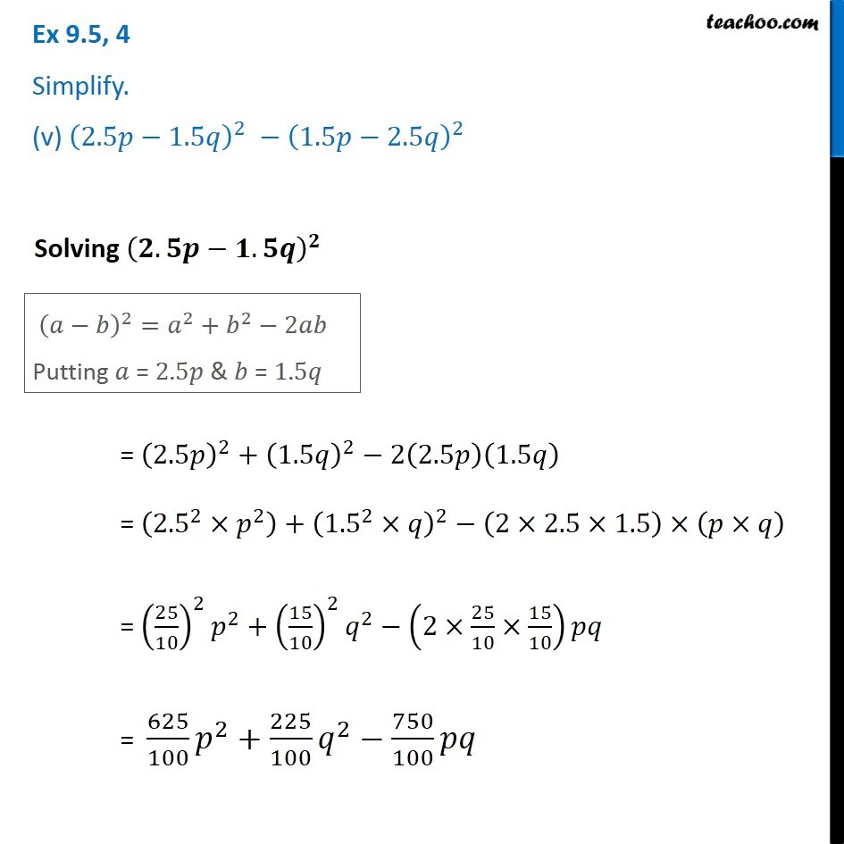 Ex 9.5, 4 - Chapter 9 Class 8 Algebraic Expressions and Identities - Part 7