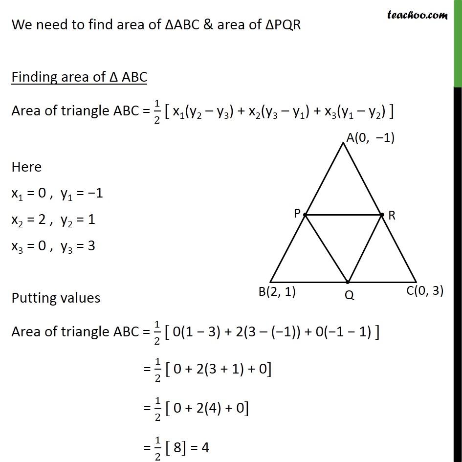 Ex 7.3, 3 - Chapter 7 Class 10 Coordinate Geometry - Part 2