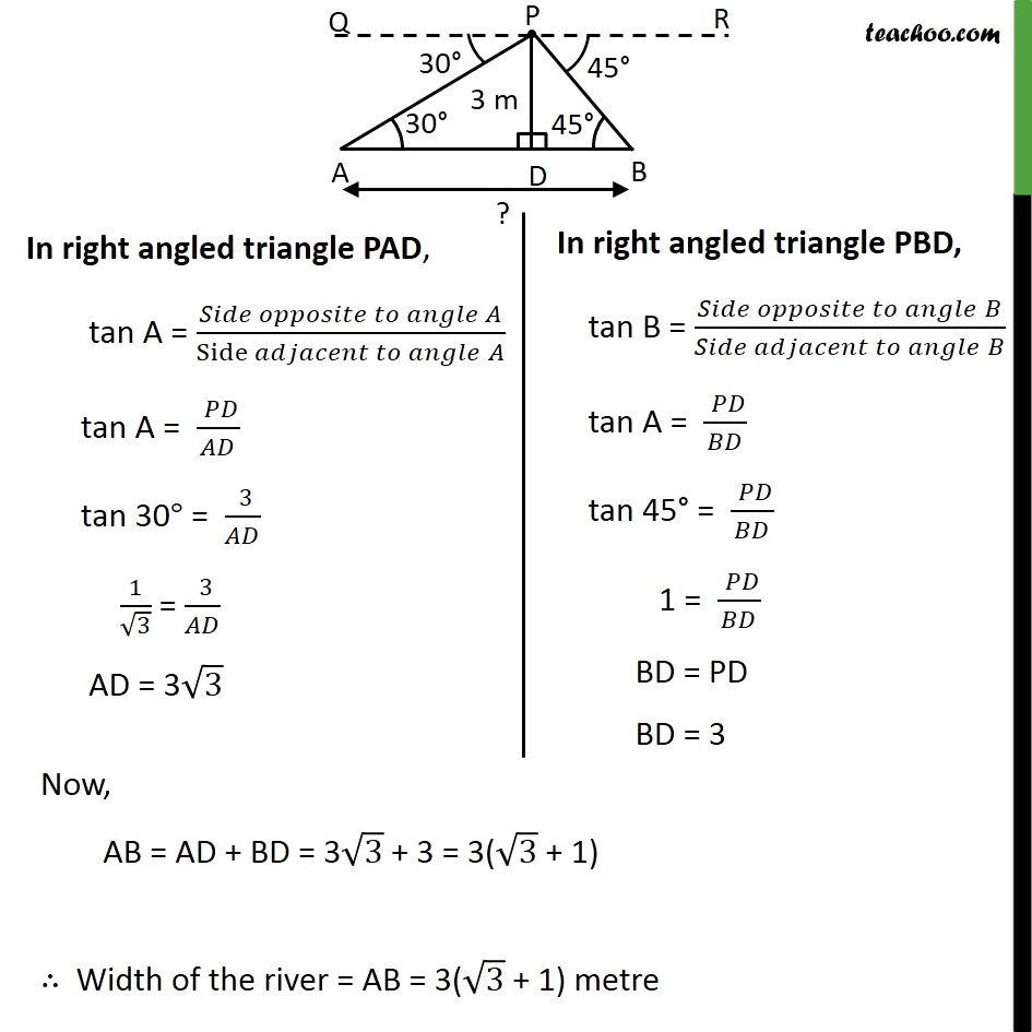 Example 7 - Chapter 9 Class 10 Some Applications of Trigonometry - Part 3