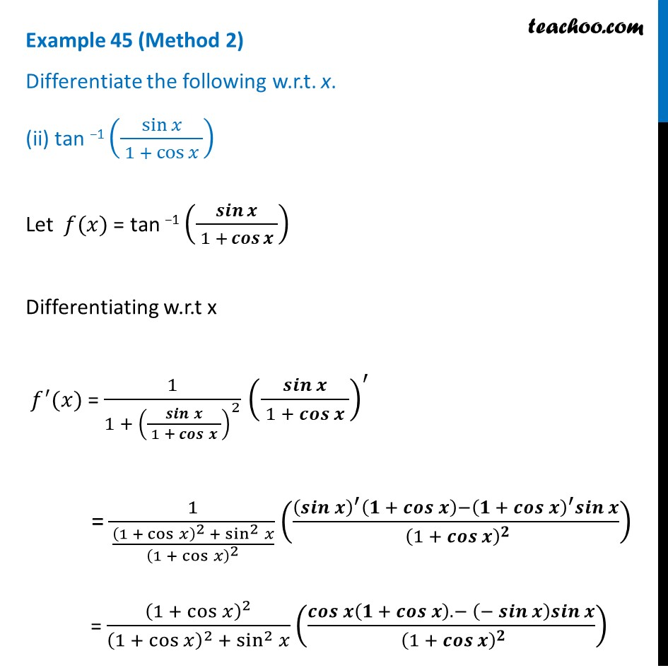 Example 45 - Chapter 5 Class 12 Continuity and Differentiability - Part 5