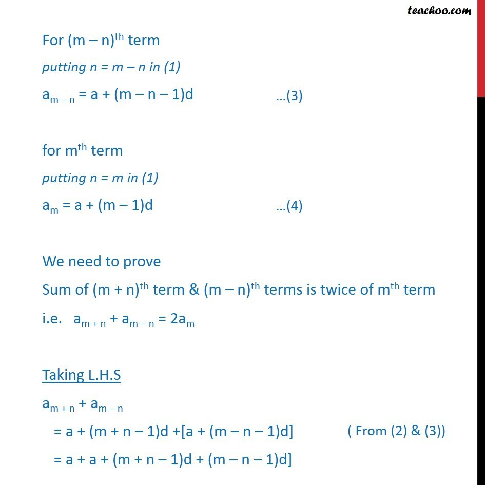 Misc 1 - Chapter 9 Class 11 Sequences and Series - Part 2