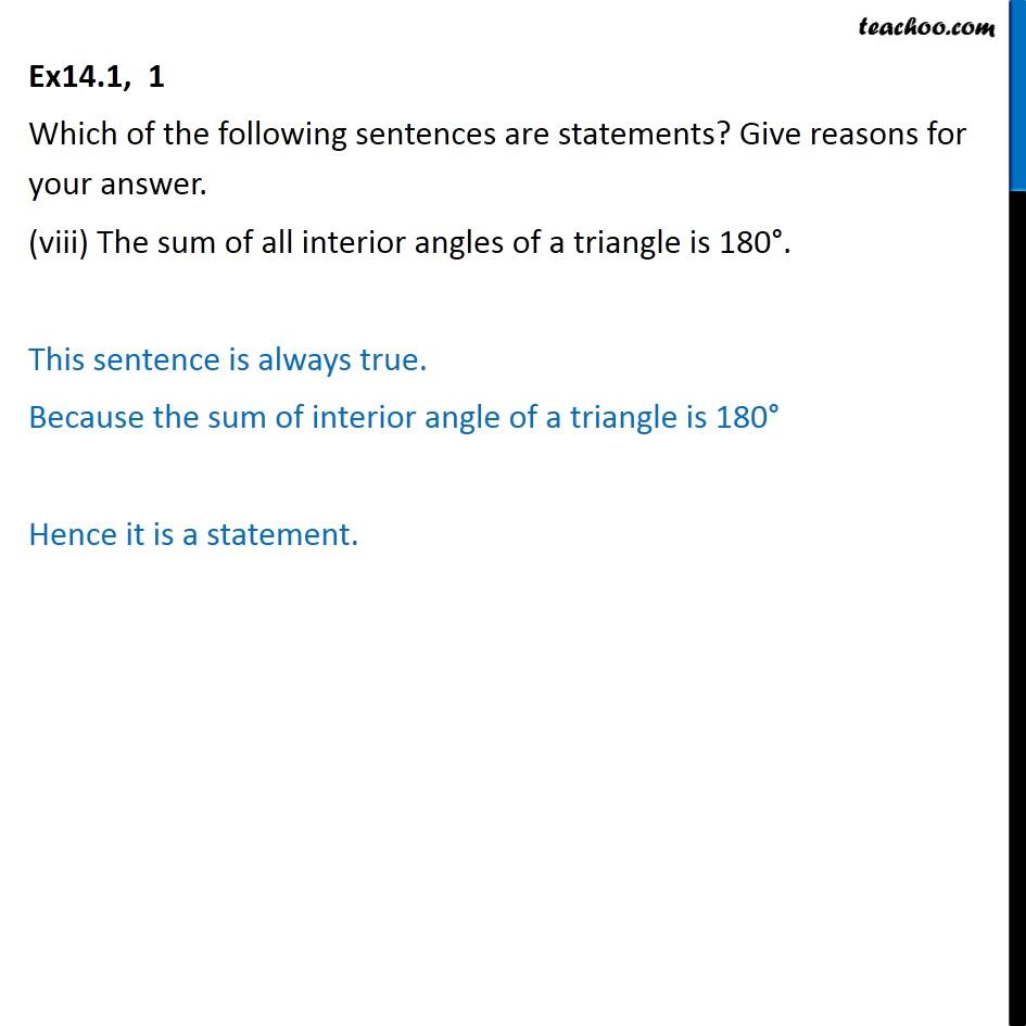 Ex 14.1,  1 - Chapter 14 Class 11 Mathematical Reasoning - Part 8