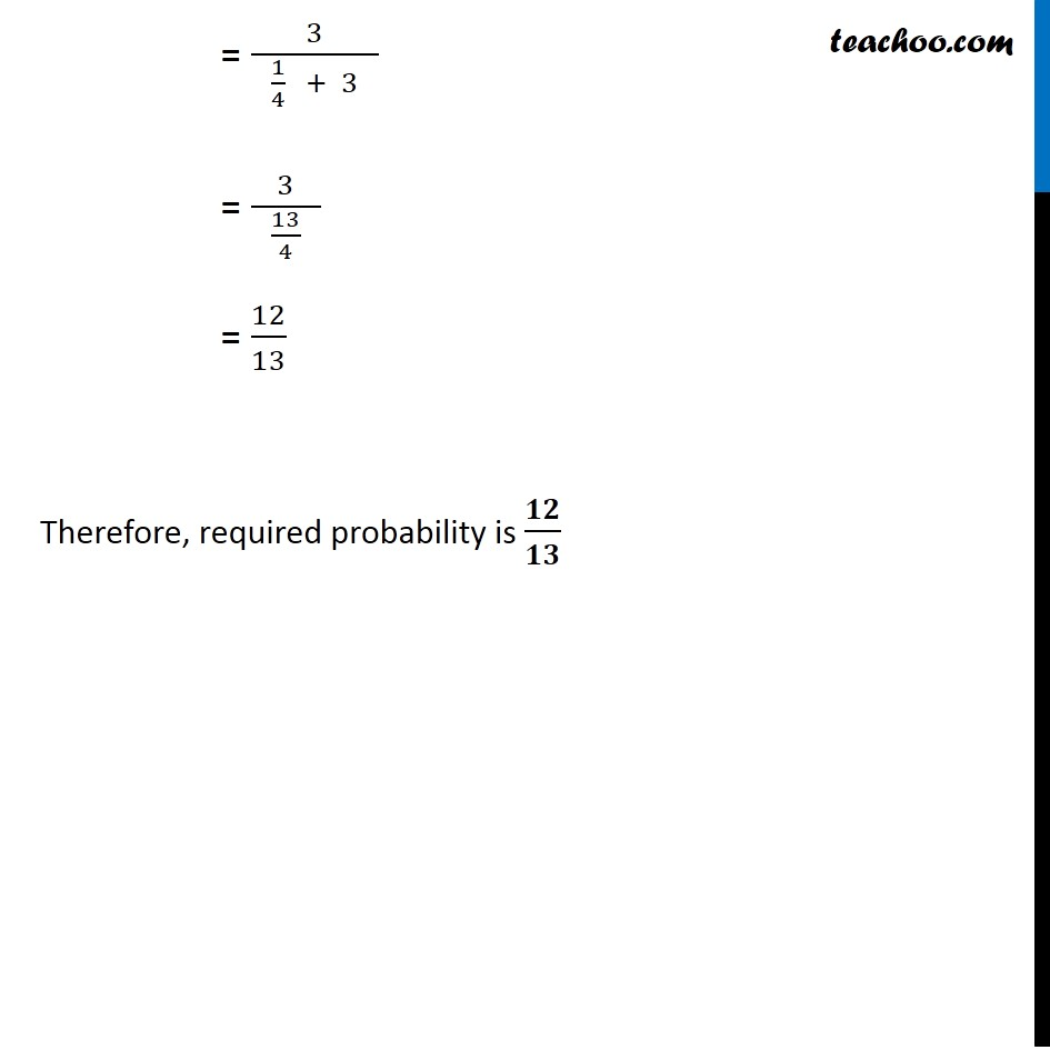 Ex 13.3, 4 - Chapter 13 Class 12 Probability - Part 3