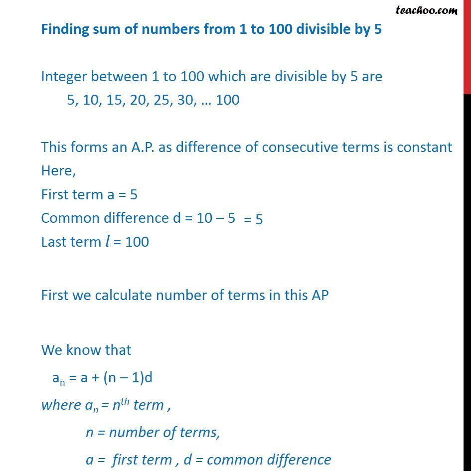 Misc 5 - Chapter 9 Class 11 Sequences and Series - Part 3
