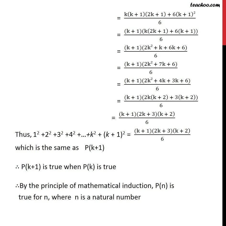 Example 1 - Chapter 4 Class 11 Mathematical Induction - Part 3