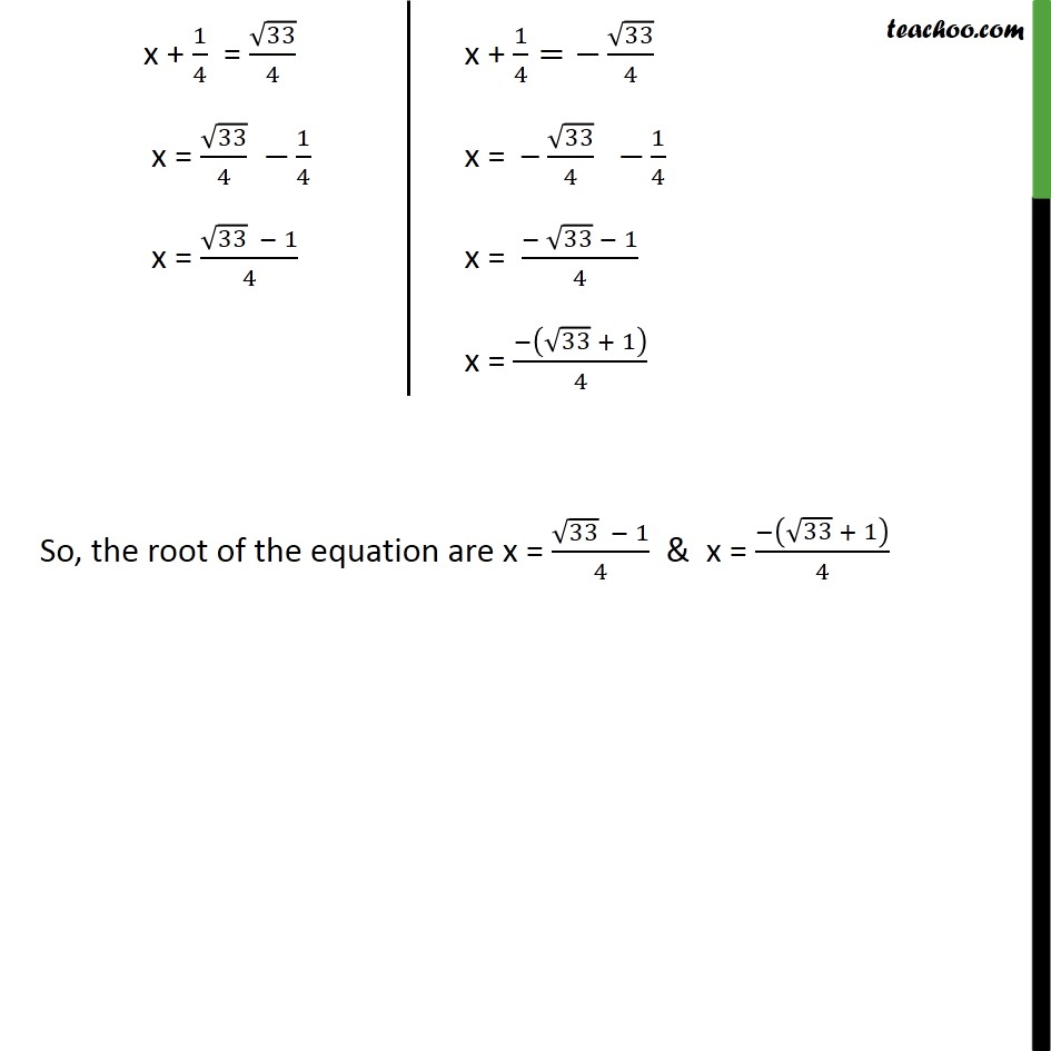 Ex 4.3, 1 (ii) - Chapter 4 Class 10 Quadratic Equations - Part 4
