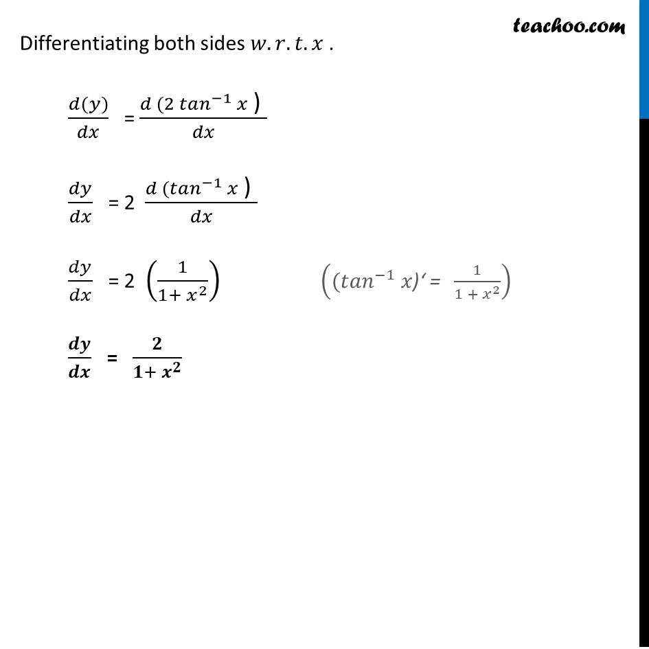Ex 5.3, 11 - Chapter 5 Class 12 Continuity and Differentiability - Part 2