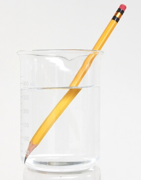 Refraction - Example 1 - Pencil in water.jpg