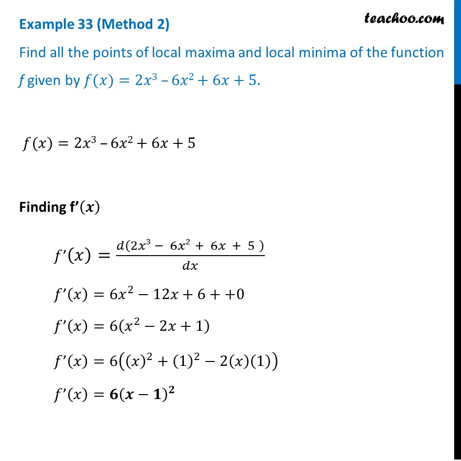 Example 33 - Chapter 6 Class 12 Application of Derivatives - Part 3