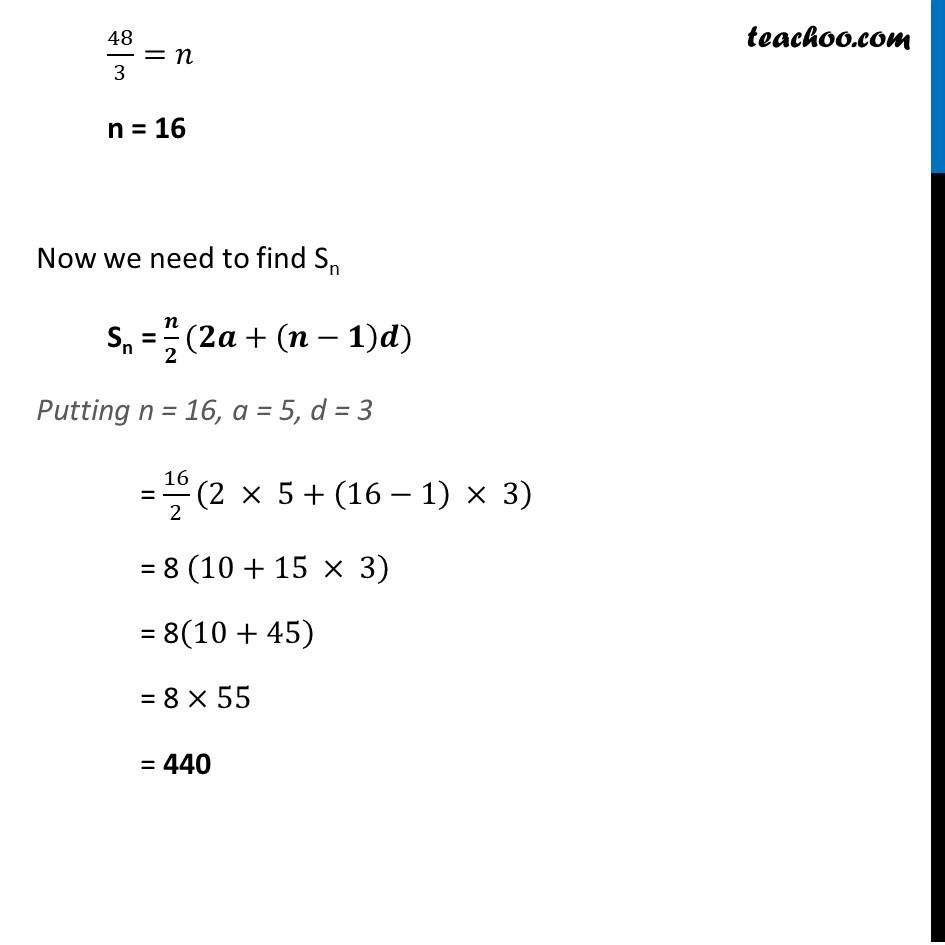 Ex 5.3, 3 - Chapter 5 Class 10 Arithmetic Progressions - Part 2