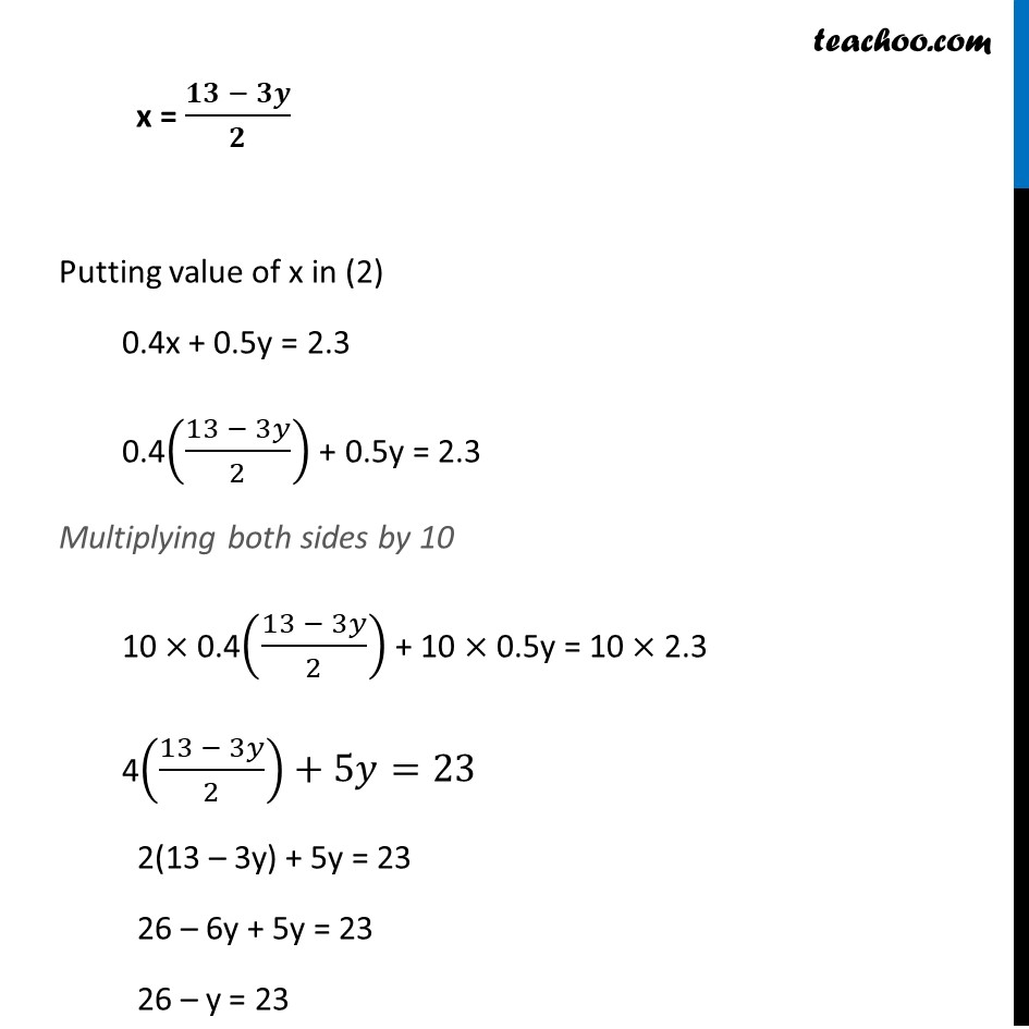 Ex 3.3, 1 - Chapter 3 Class 10 Pair of Linear Equations in Two Variables - Part 12