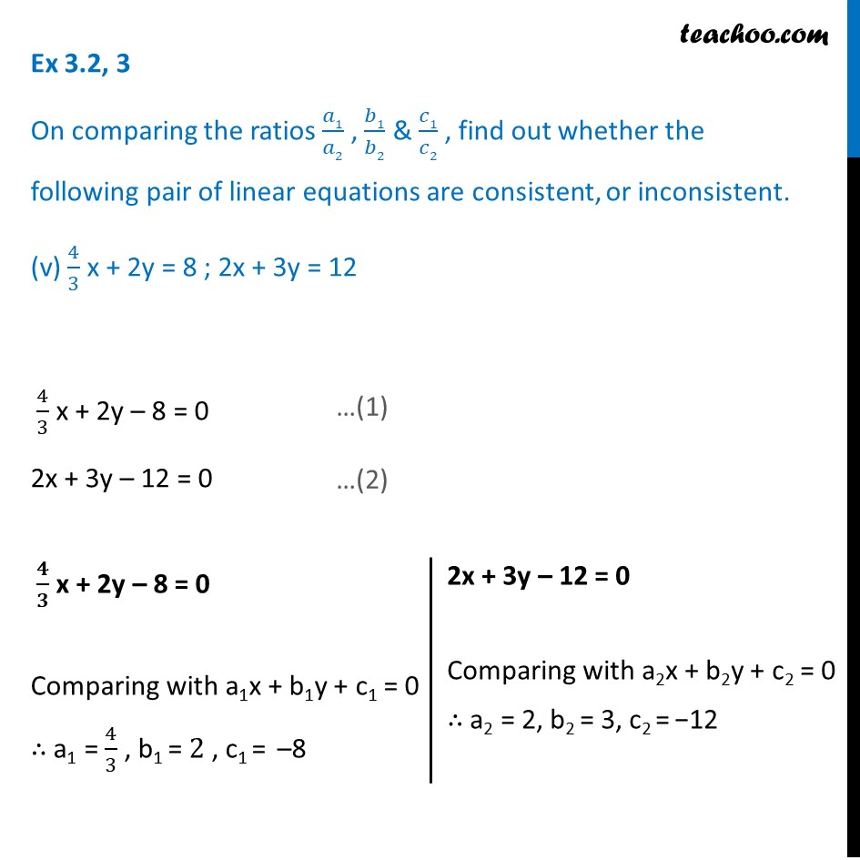 Ex 3.2, 3 - Chapter 3 Class 10 Pair of Linear Equations in Two Variables - Part 9