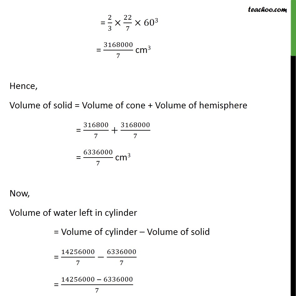 Ex 13.2, 7 - Chapter 13 Class 10 Surface Areas and Volumes - Part 3