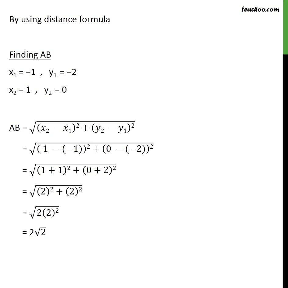 Ex 7.1, 6 - Chapter 7 Class 10 Coordinate Geometry - Part 2
