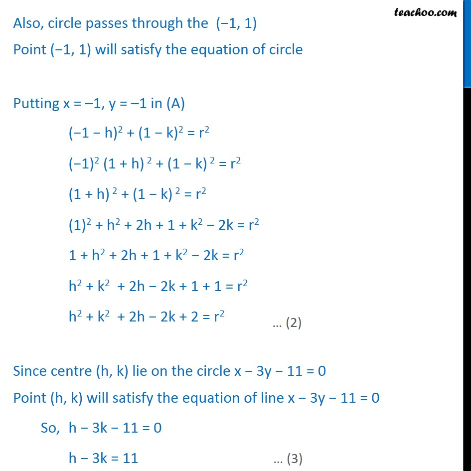 Ex 11.1,  11 - Chapter 11 Class 11 Conic Sections - Part 2