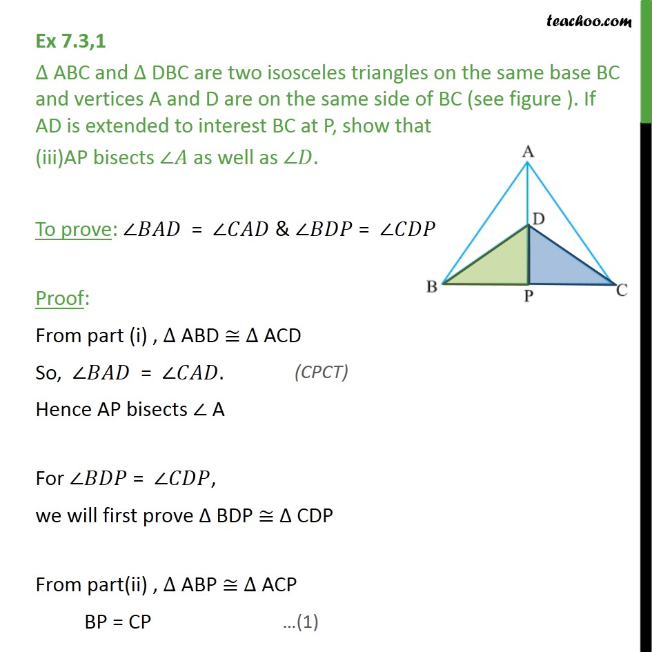Ex 7.3, 1 - Chapter 7 Class 9 Triangles - Part 4
