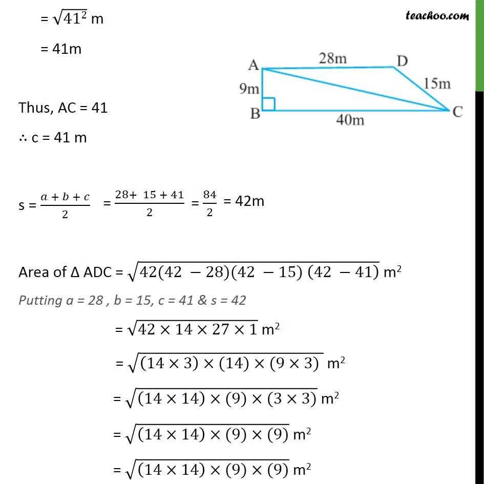 Example 5 - Chapter 12 Class 9 Herons Formula - Part 4
