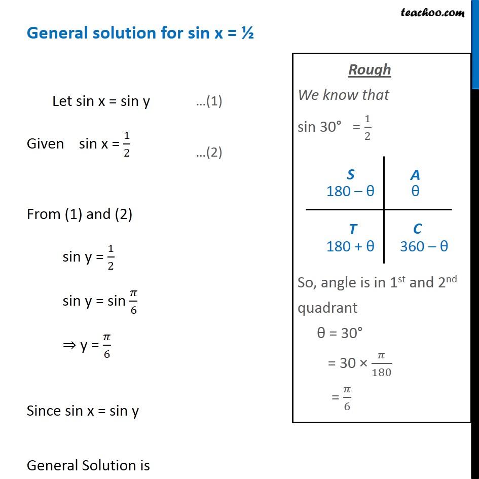 Finding general solutions - Finding General Solutions