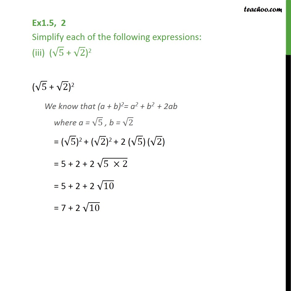 Ex 1.5,2 - Chapter 1 Class 9 Number Systems - Part 3
