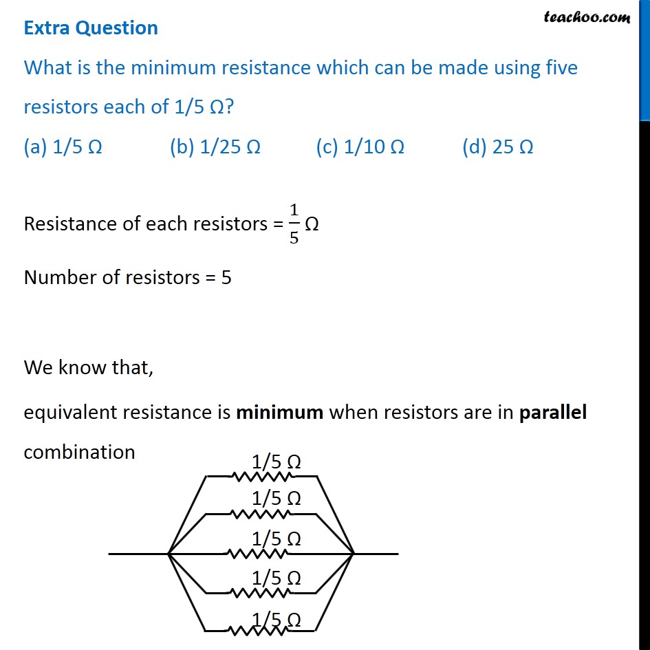 Practice Problems for Electricity Class 10 - Teachoo Science