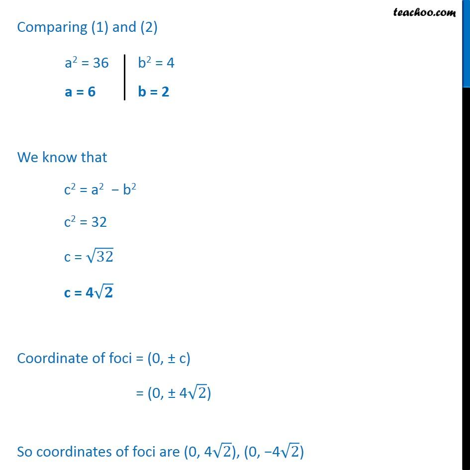 Ex 11.3,  7 - Chapter 11 Class 11 Conic Sections - Part 2