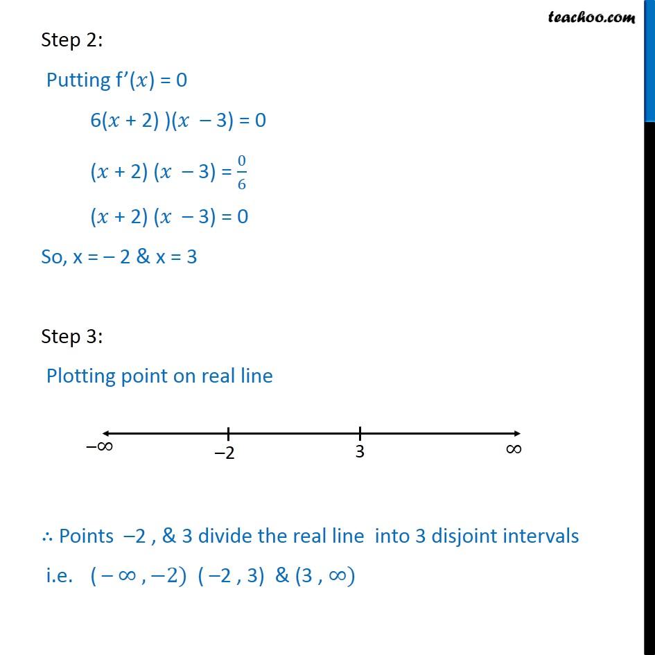 Ex 62 5 Find Intervals Fx 2x3 3x2 36x 7 Ex 62
