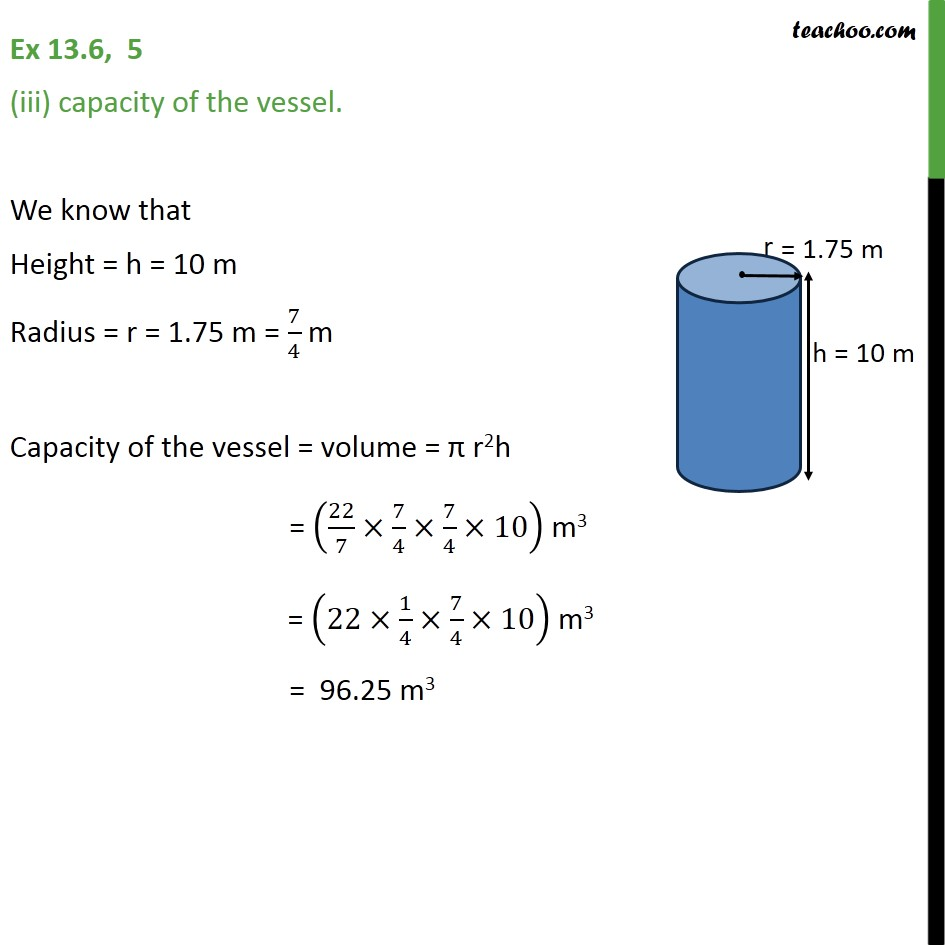 Ex 13.6, 5 - Chapter 13 Class 9 Surface Areas and Volumes - Part 3