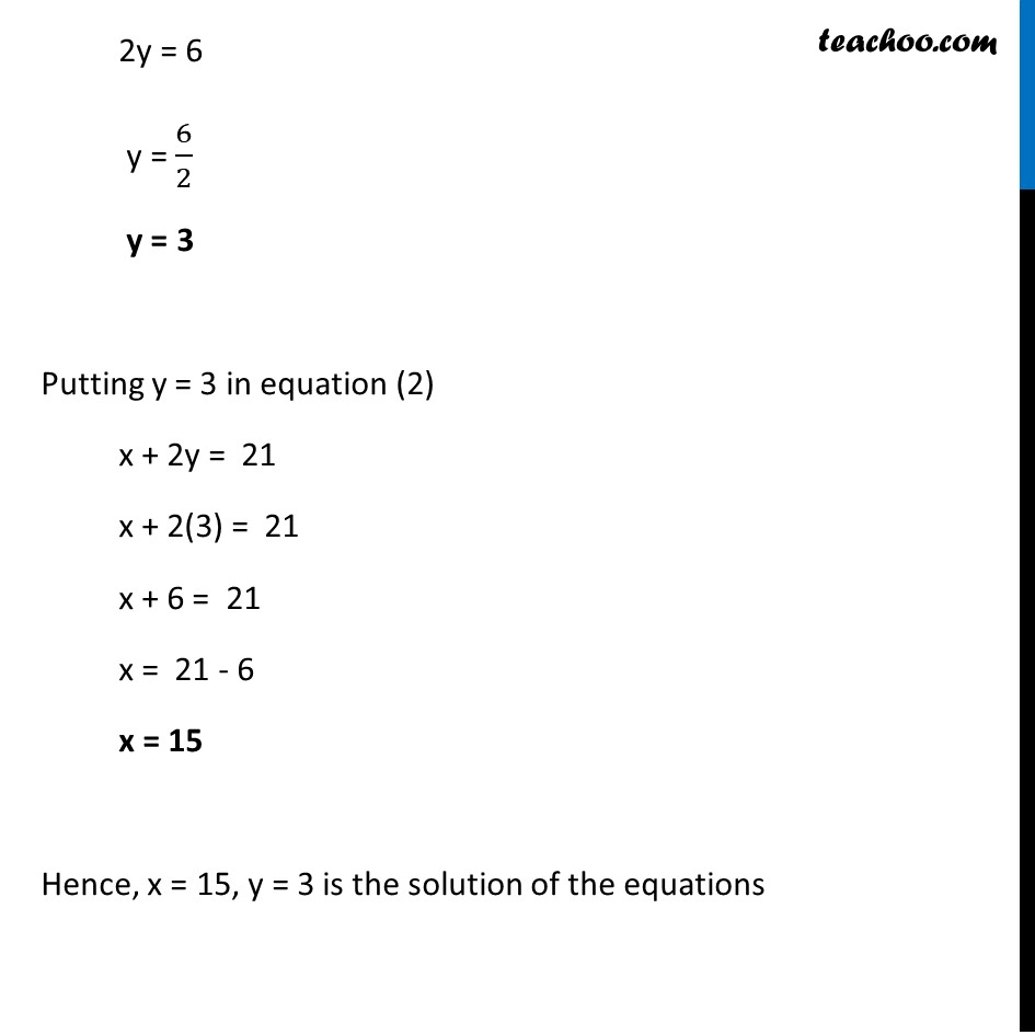 Ex 3.4, 2 (v) - Chapter 3 Class 10 Pair of Linear Equations in Two Variables - Part 3