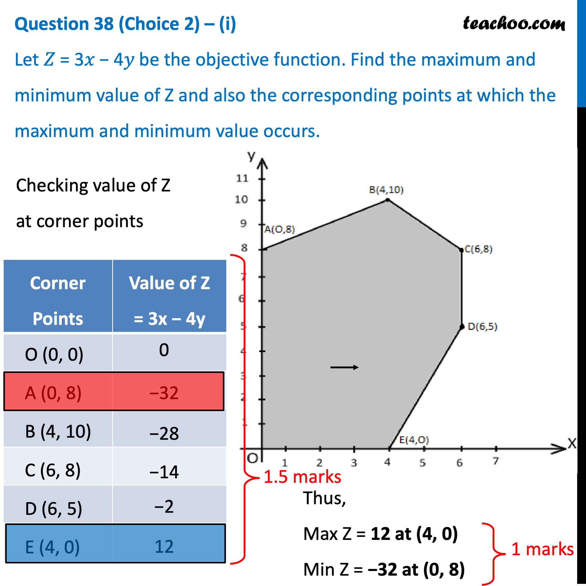 Question 38 (Choice 2) - CBSE Class 12 Sample Paper for 2021 Boards - Part 2