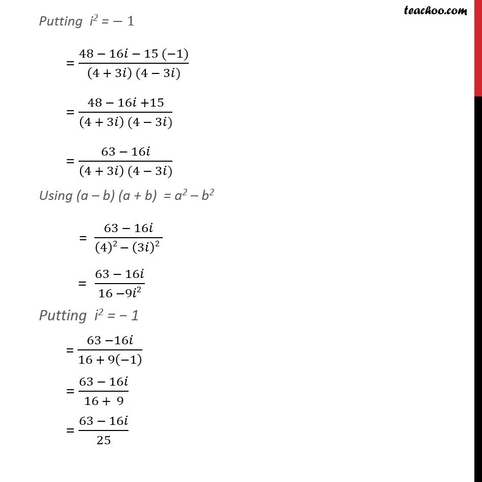 Example 12 - Chapter 5 Class 11 Complex Numbers - Part 3