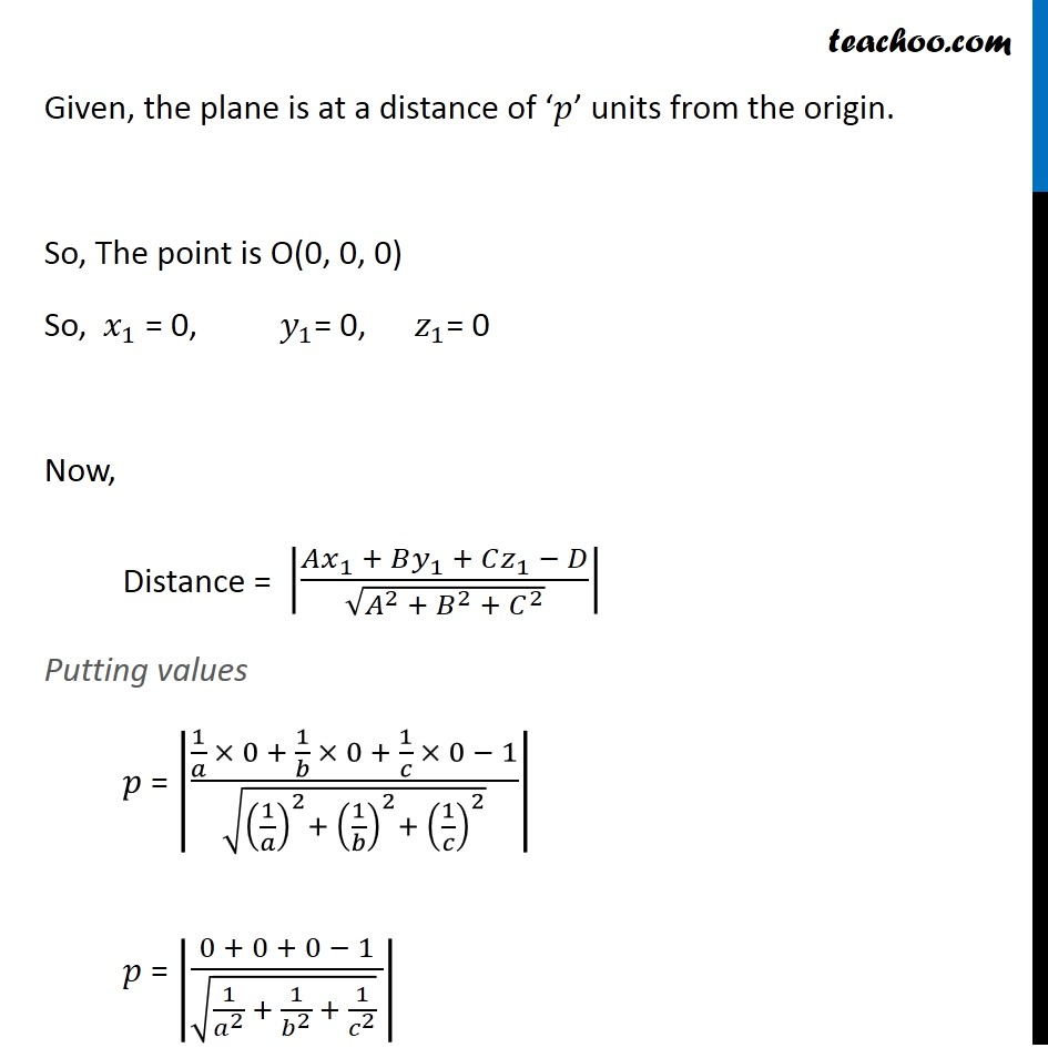 Misc 21 - Chapter 11 Class 12 Three Dimensional Geometry - Part 2