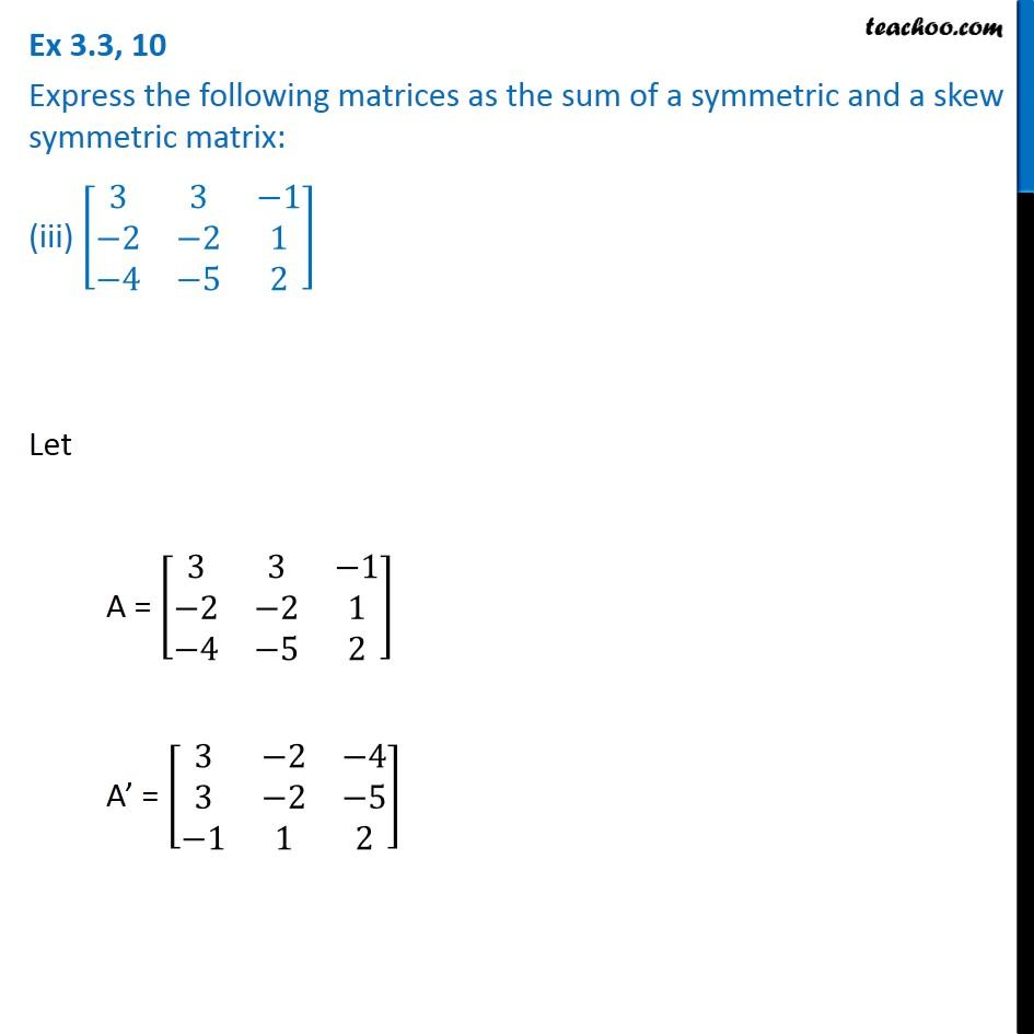 Ex 3.3, 10 - Chapter 3 Class 12 Matrices - Part 6