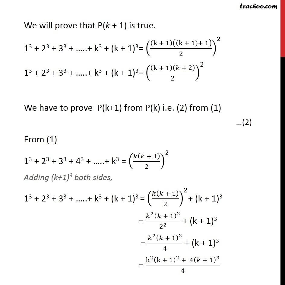 Ex 4.1, 2 - Chapter 4 Class 11 Mathematical Induction - Part 2