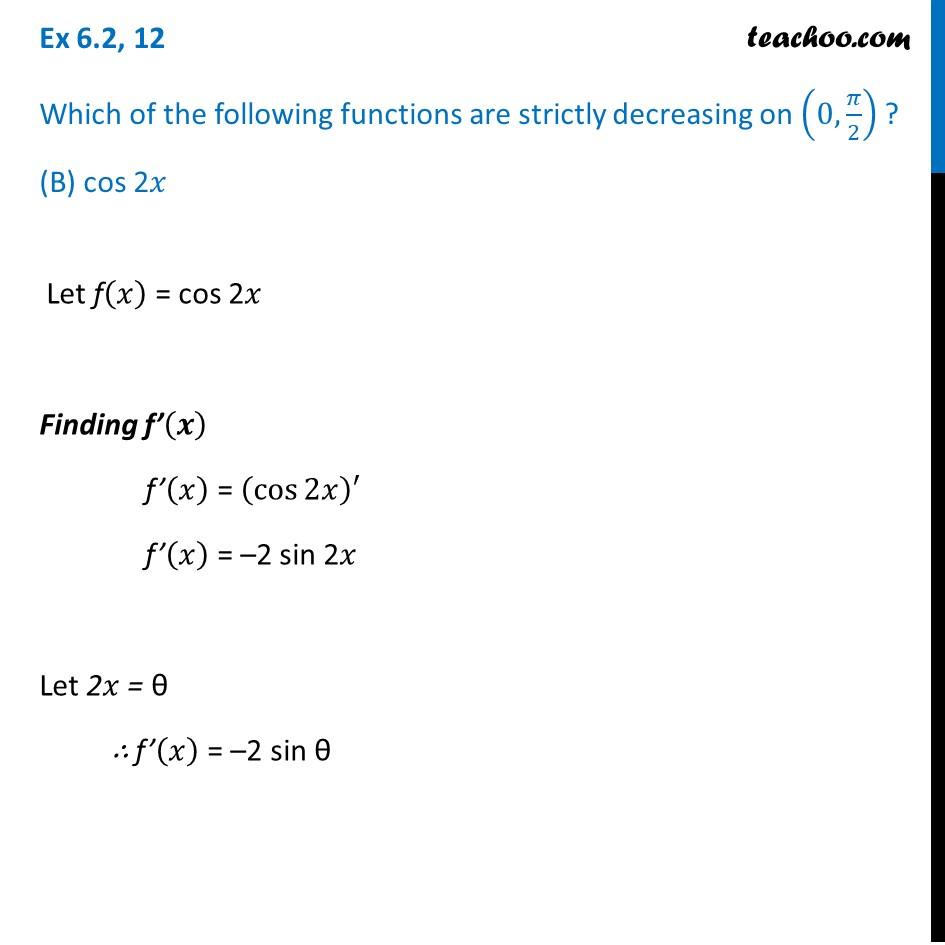 Ex 6.2,12 - Chapter 6 Class 12 Application of Derivatives - Part 2
