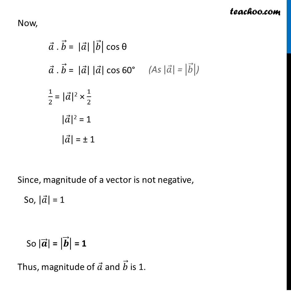 Ex 10.3, 8 - Chapter 10 Class 12 Vector Algebra - Part 2