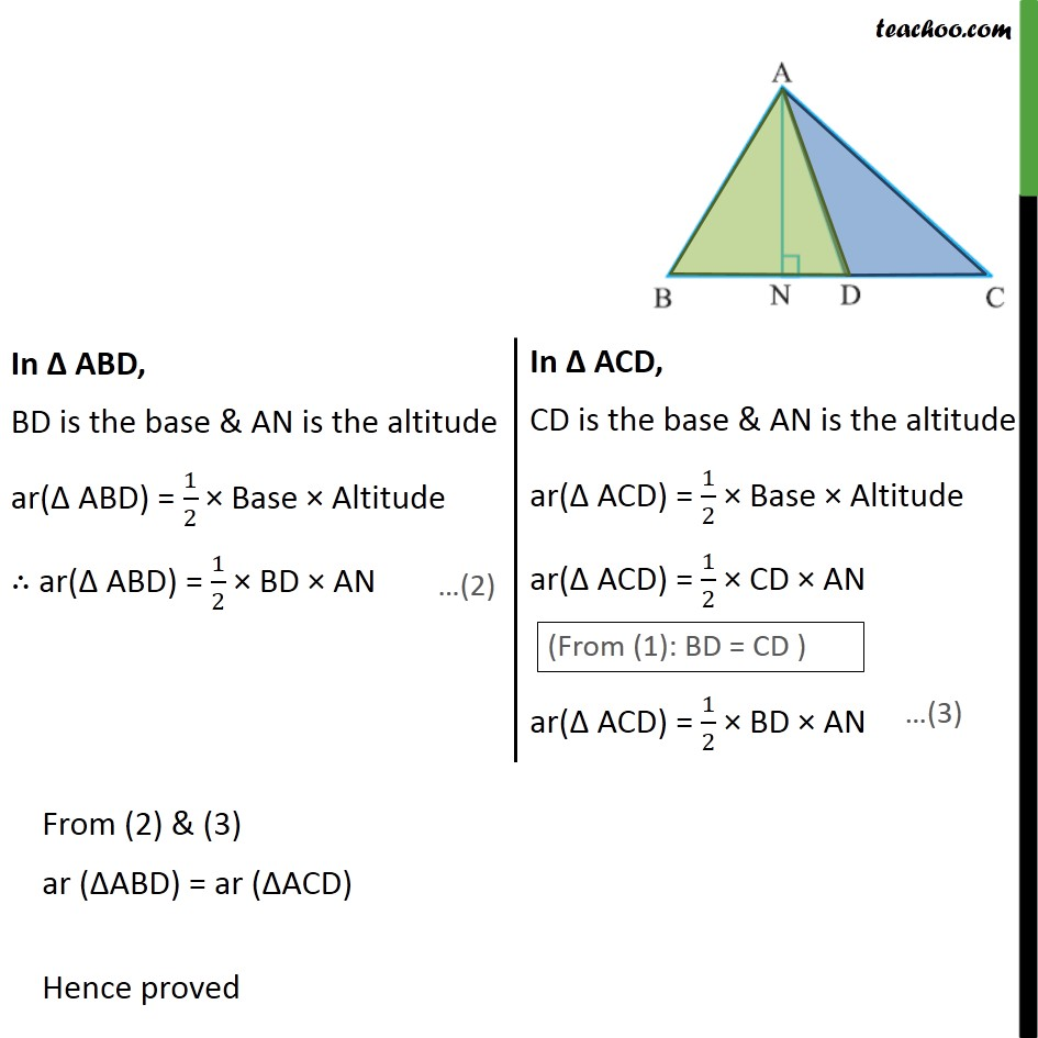 Example 3 - Chapter 9 Class 9 Areas of Parallelograms and Triangles - Part 2