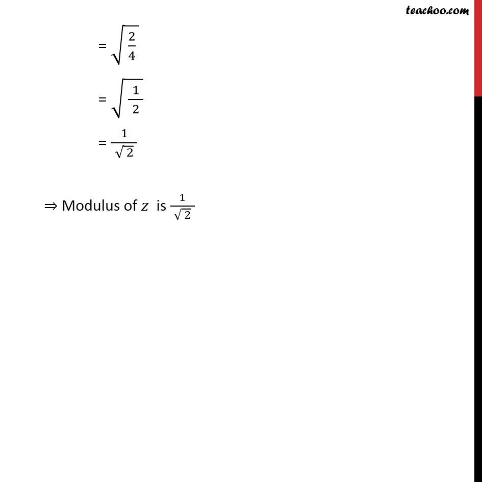 Example 13  - Chapter 5 Class 11 Complex Numbers - Part 11