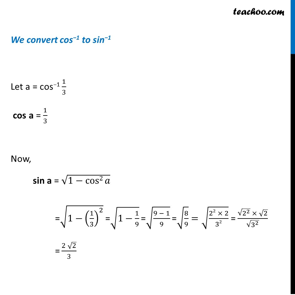 Misc 12 - Chapter 2 Class 12 Inverse Trigonometric Functions - Part 2