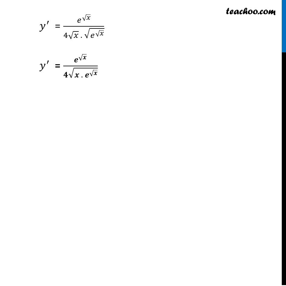 Ex 5.4, 7 - Chapter 5 Class 12 Continuity and Differentiability - Part 2